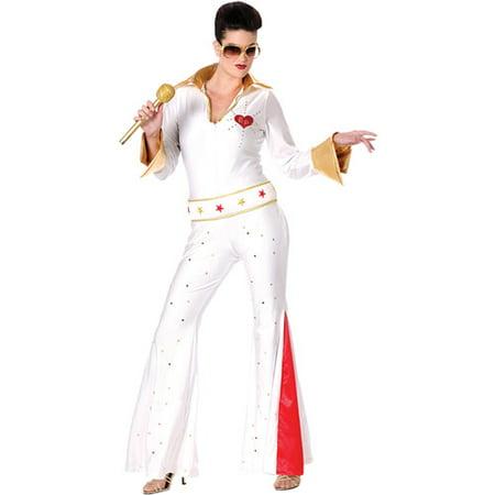 Elvis Female Jumpsuit Adult Halloween Costume