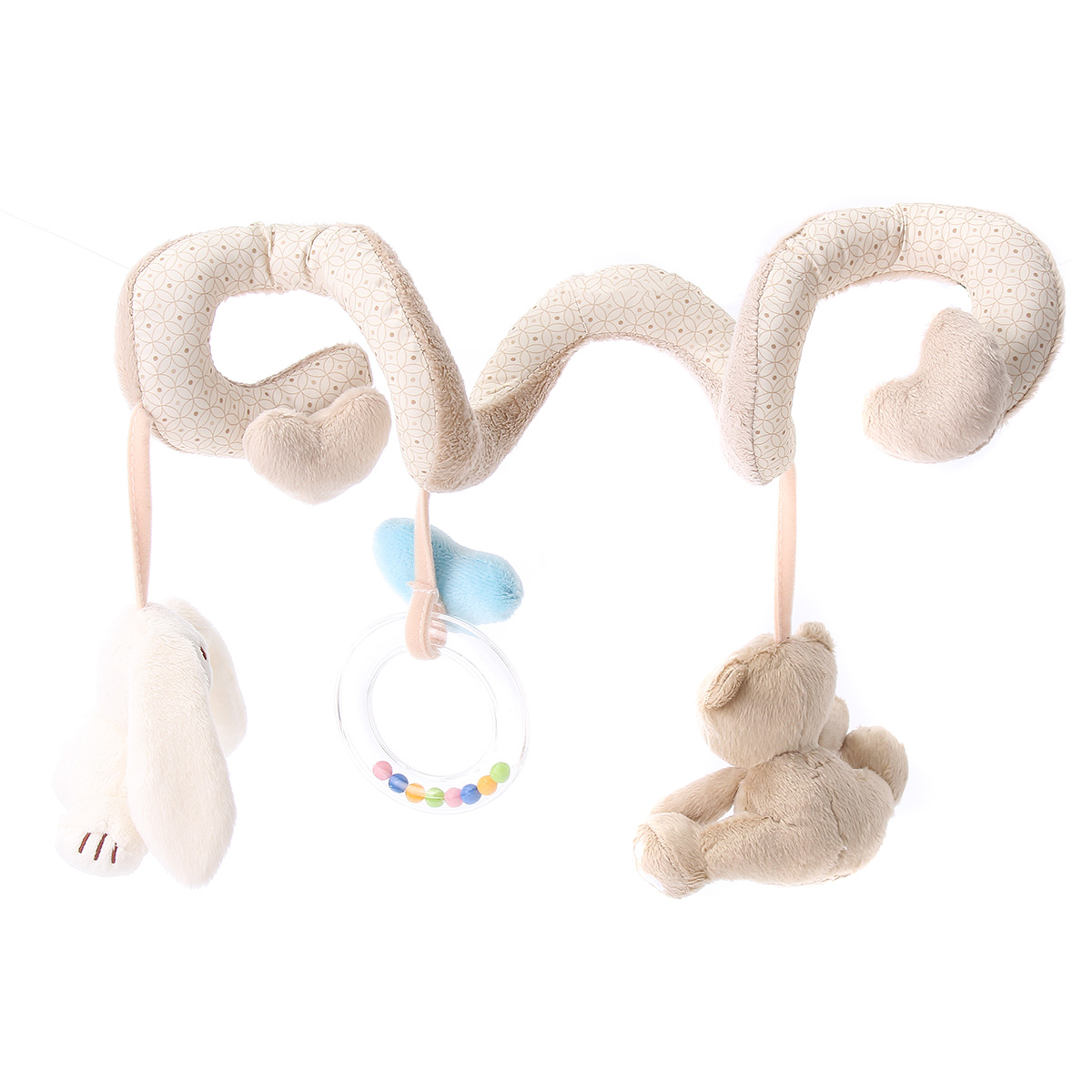 Baby Crib Cot Pram Hanging Rattle Spiral Stroller Car Seat Pushchair Toy RE
