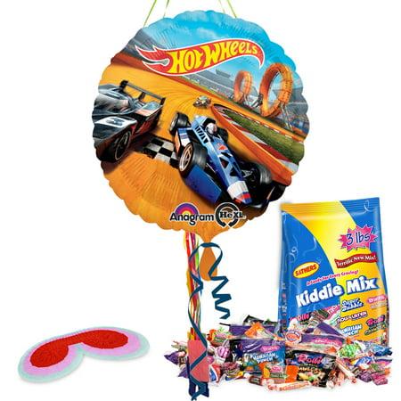 Hot Wheels Pull String Pinata Kit - Party Supplies
