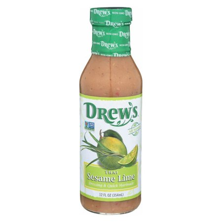 Drew's Organics Organic Dressing And Quick Marinade - Thai Coconut Sesame - 12 Fl. Oz. - pack of (Best Thai Salad Dressing)