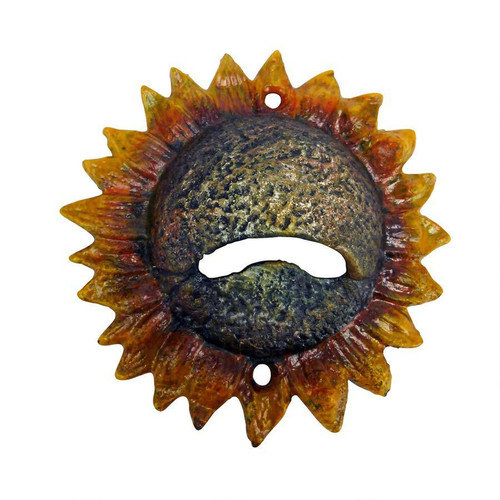 Design Toscano Sunny Sunflower Cast Iron Bottle Opener (Set of 2)