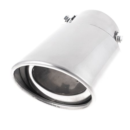 "Unique Bargains Silver Tone 3"" Inlet Oval Stainless Steel Exhaust Pipe Muffler Tip for"