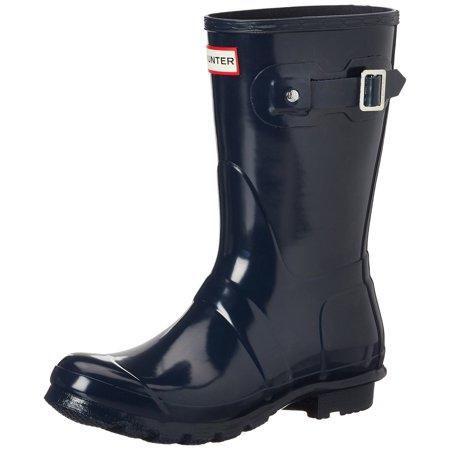 Hunter WFS1000RGL-NVY: Orignal Short Gloss Rain Navy Boot - Bernard Boots