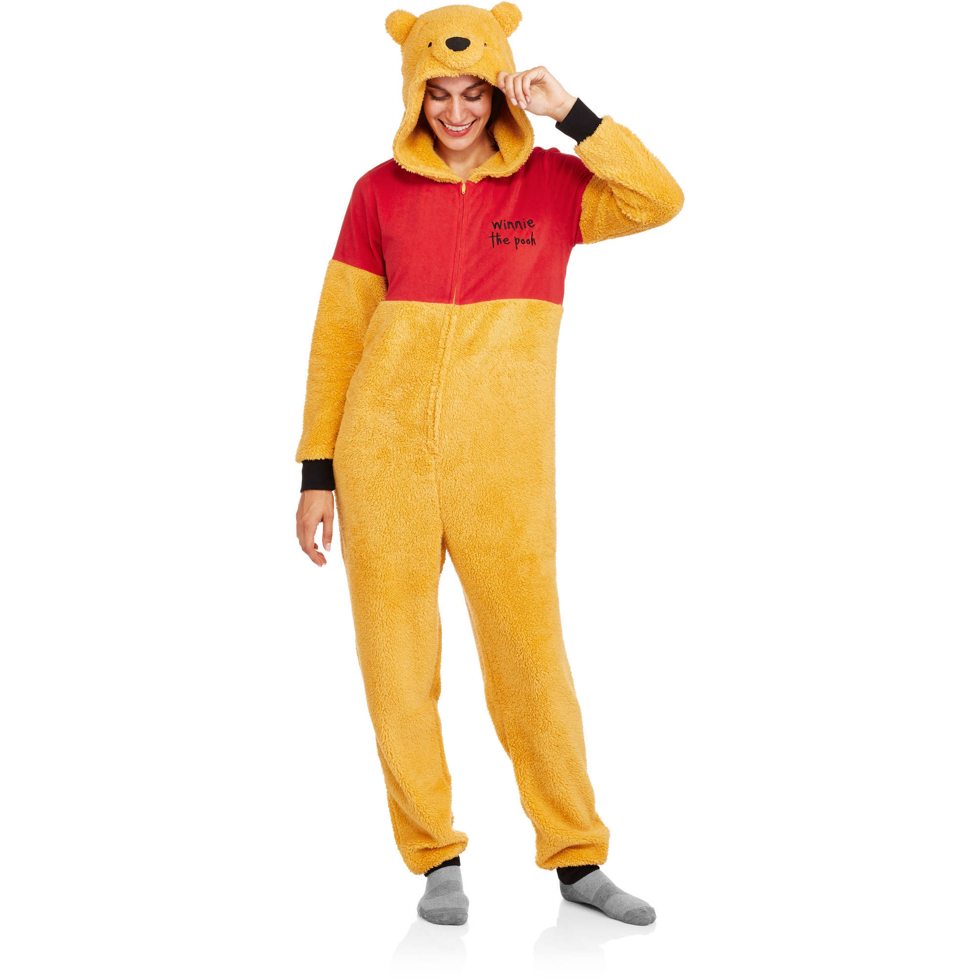 Winnie the Pooh Women's and Women's Plus License Sleepwear Adult Onesie Costume Union Suit Pajama (Sizes XS-3X)