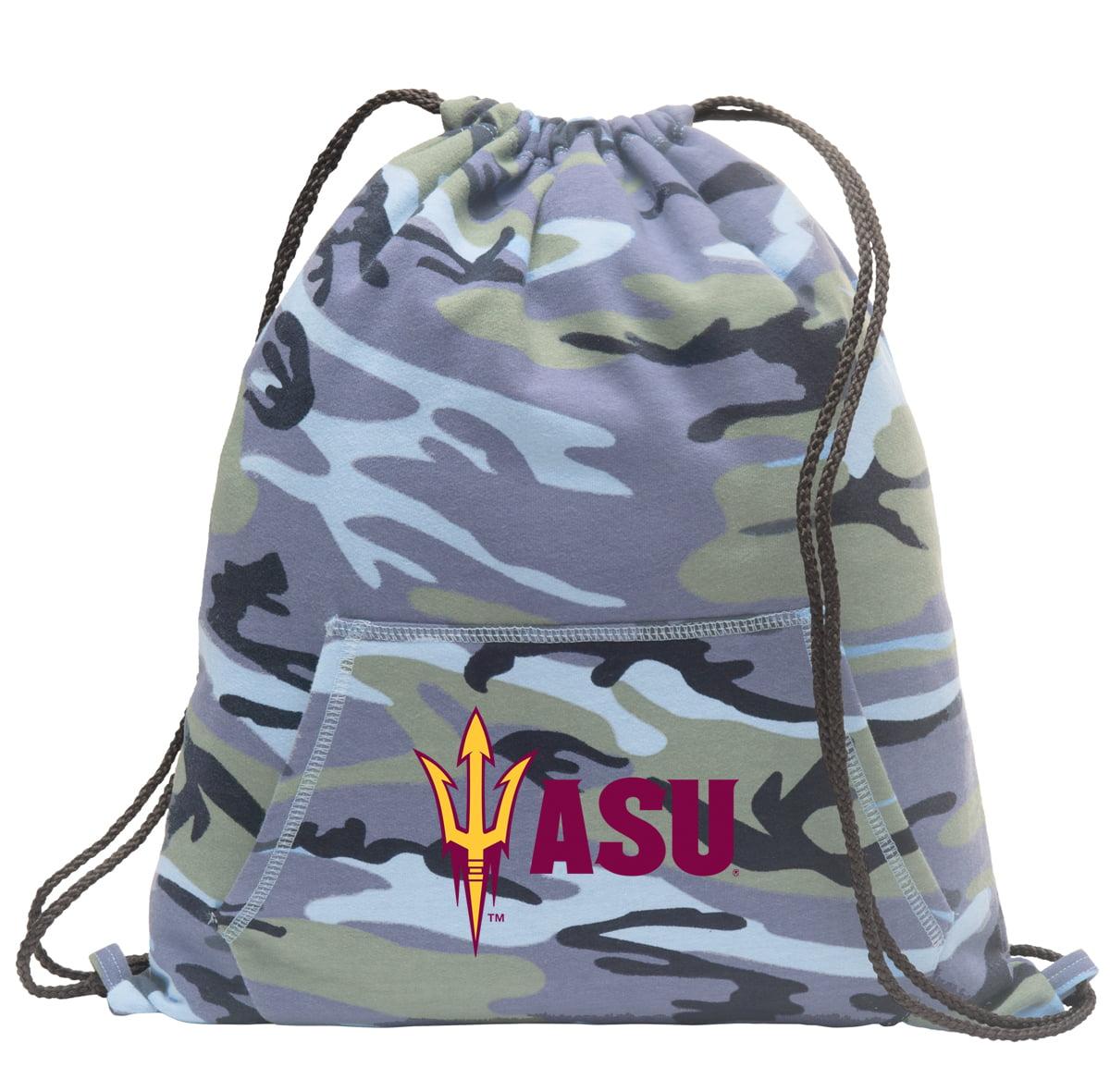 ASU Drawstring Bag Blue Camo Official Arizona State Cinch Backpack for Boys Girls Men Women