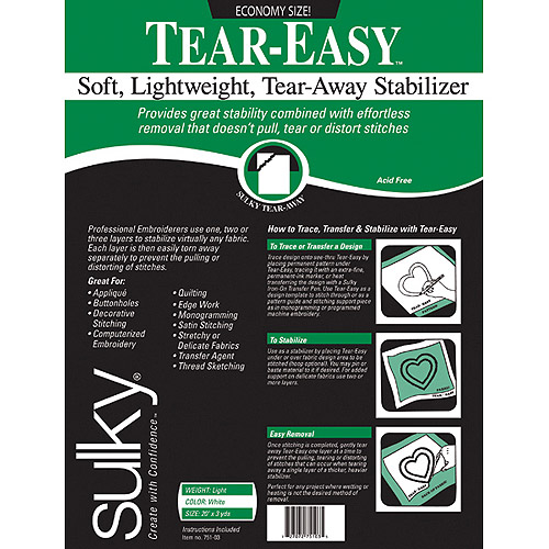 "Tear-Easy Stabilizer 20"" x 3 Yards"
