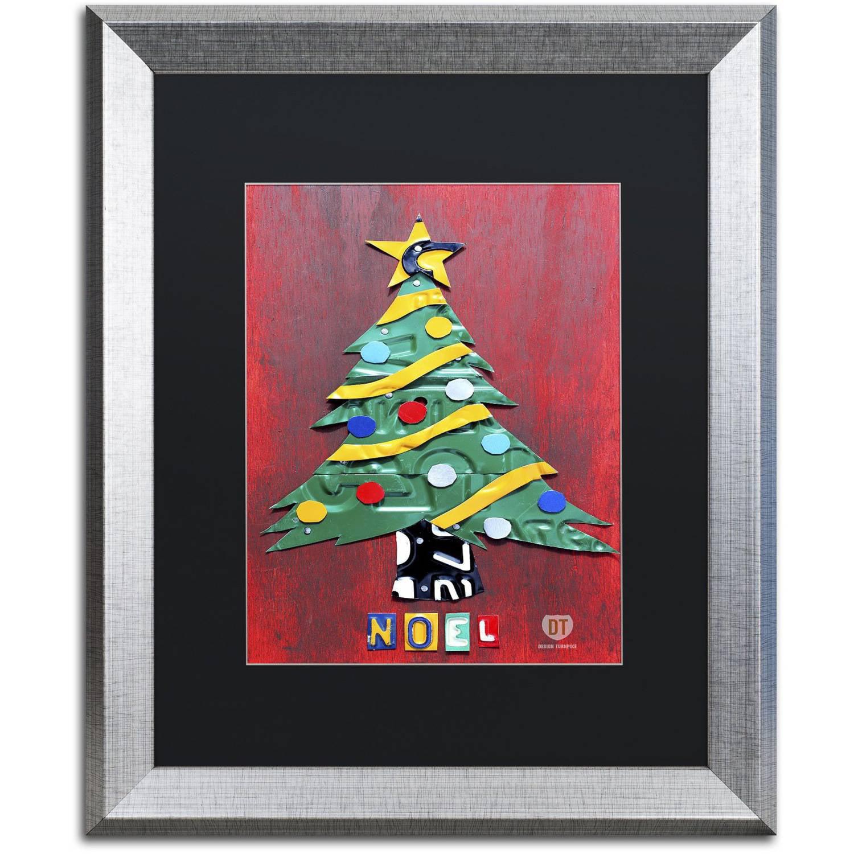 Trademark Global LLC Trademark Fine Art 'Noel Christmas Tree' Canvas Art by Design Turnpike, Black Matte, Silver Frame