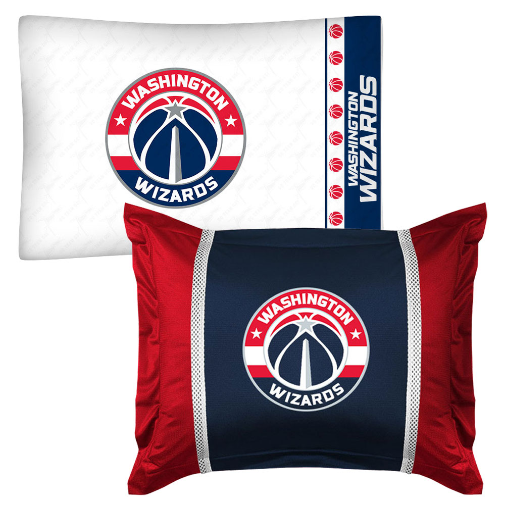 NBA Washington Wizards Pillowcase Sham Set Basketball Bed