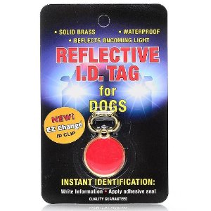 Coastal Reflective Safety Pet I.D. Tag for Dogs Multi-Colored