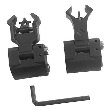 Aperture Rear Sight (2Pcs Premium Tactical Diamond Aperture Flip Up Front Rear Iron Sights Set )