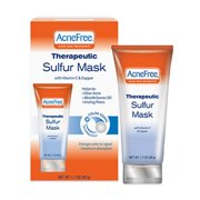 Acne Free Therapeutic Sulfur Mask With Vitamin C and Copper -1.7 oz, 6 Pack