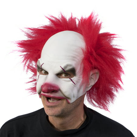 Zagone Studios Carnival Creep Clown Latex Halloween Adult Costume Mask (one size) - Zagone Studios Halloween Masks