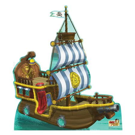 Bucky The Pirate Ship Jake/Neverland Pirates Standup Standee Cardboard Cutout (Jake And Neverland Pirates Costume)