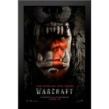 Warcraft 26X40 Large Black Wood Framed Print Movie Poster Art