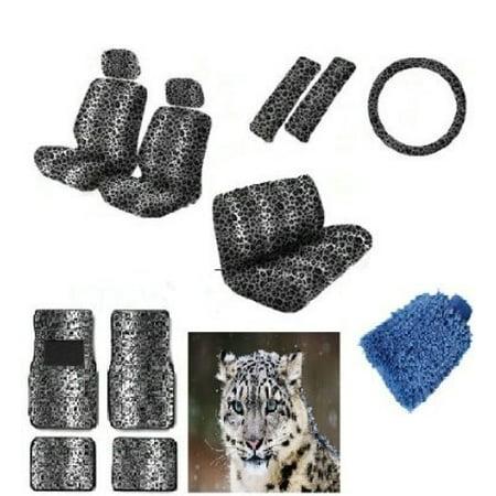 16 pieces Snow White Leopard Interior Serofiber WASH MITT - Premium Interior Set thumbnail