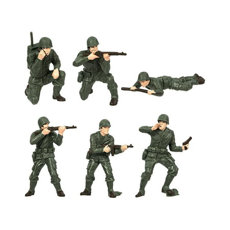 Army Men Designer TOOB 6 Piece Painted Replica Miniature Collection
