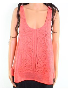 cb1c31afce Product Image Taylor   Sage NEW Pink Size Small S Junior Crochet Twist-Back  Tank Top