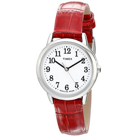 - Women's Easy Reader Watch, Red Croco Pattern Leather Strap