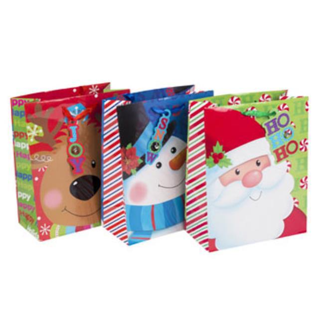 DDI 2319548 Large 6 Designs Christmas Gift Bag - Case of 48