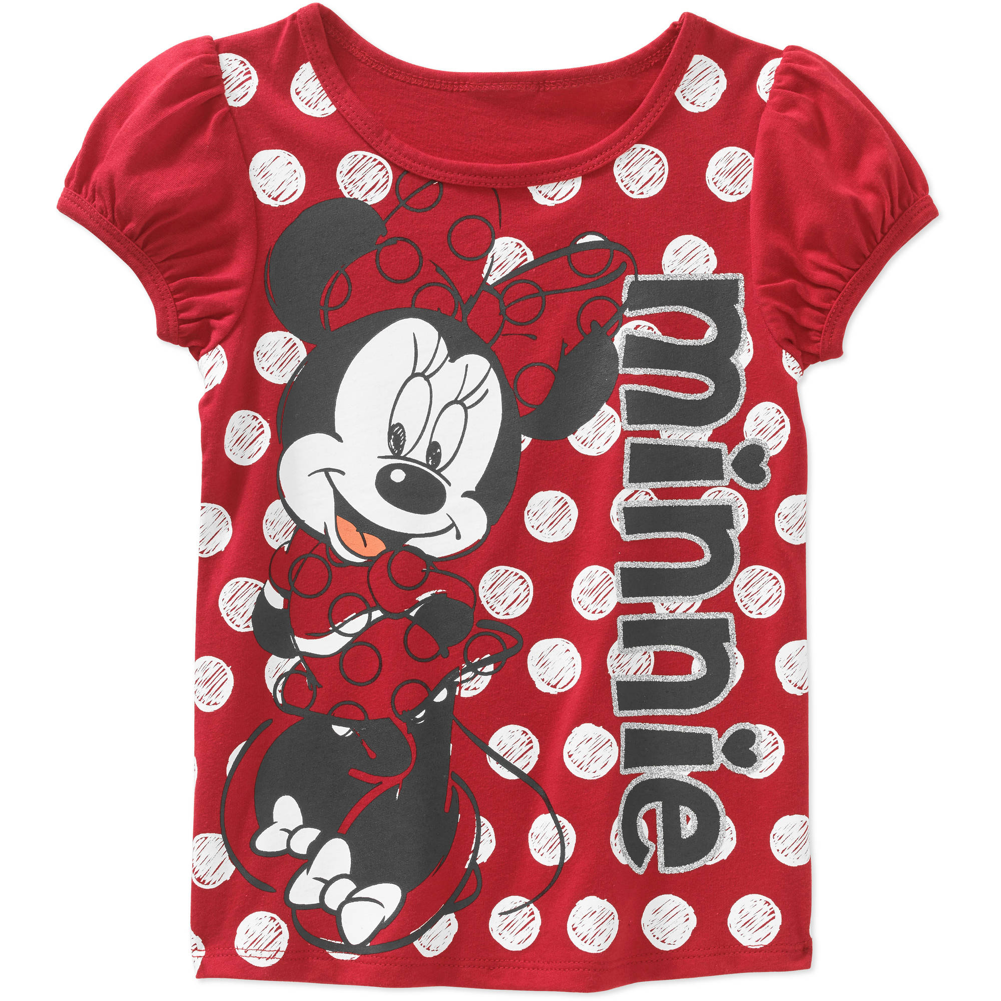 Minnie Mouse Toddler Girl Polka Dot Short Sleeve Tee