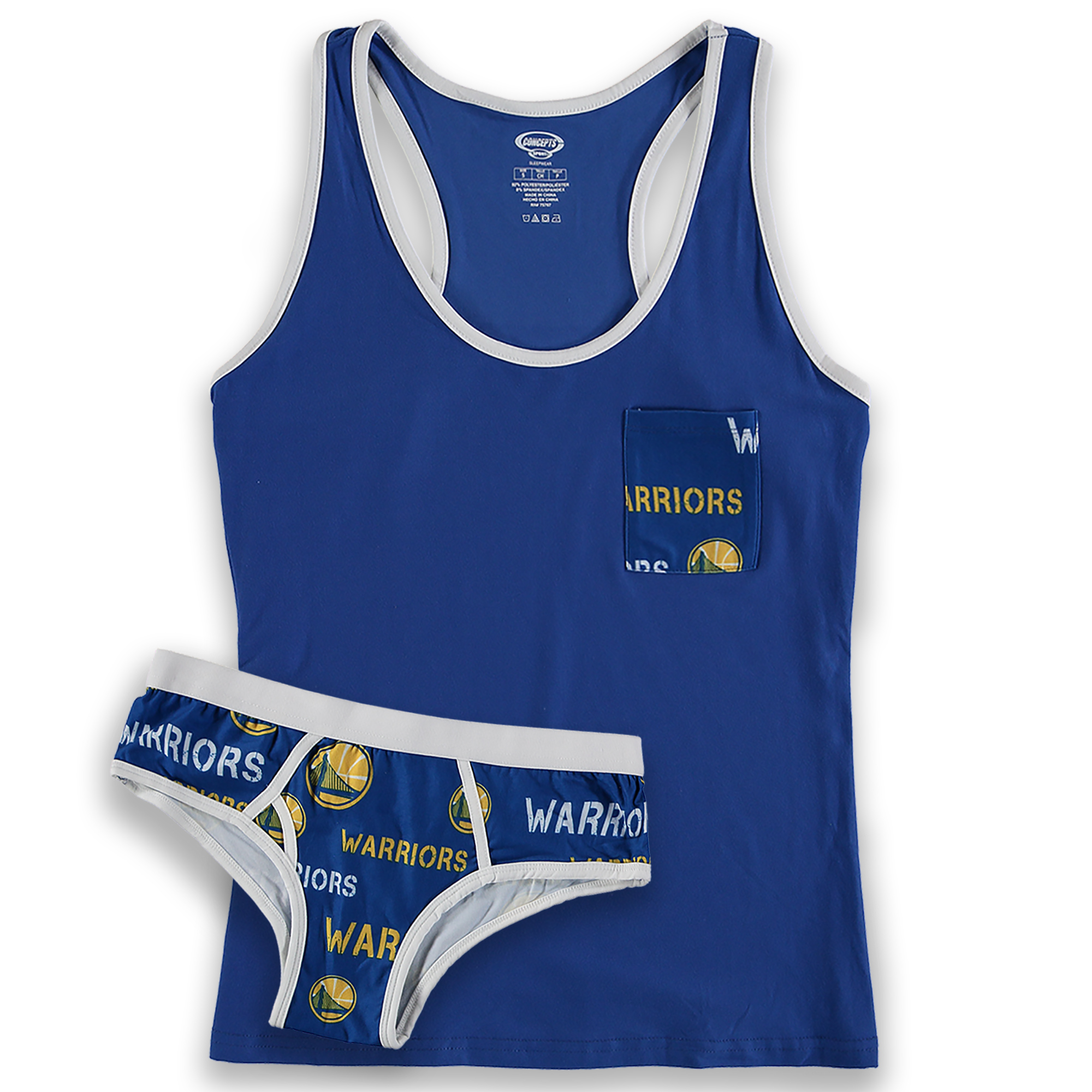 Golden State Warriors Concepts Sport Women's Midfield Tank Top & Brief Sleep Set - Royal