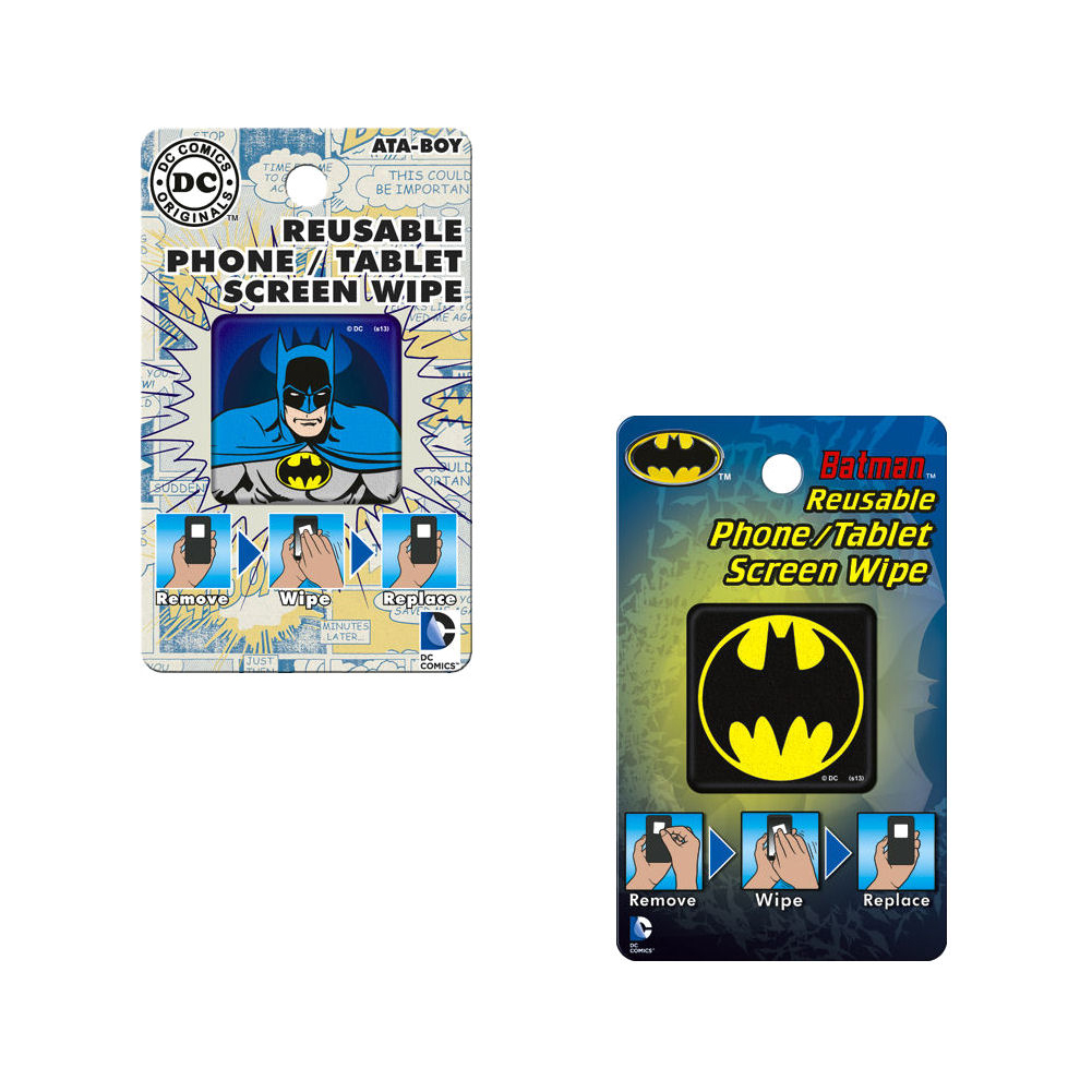 Bundle - 2 Items: Batman Reusable Phone/Tablet Screen Wipes