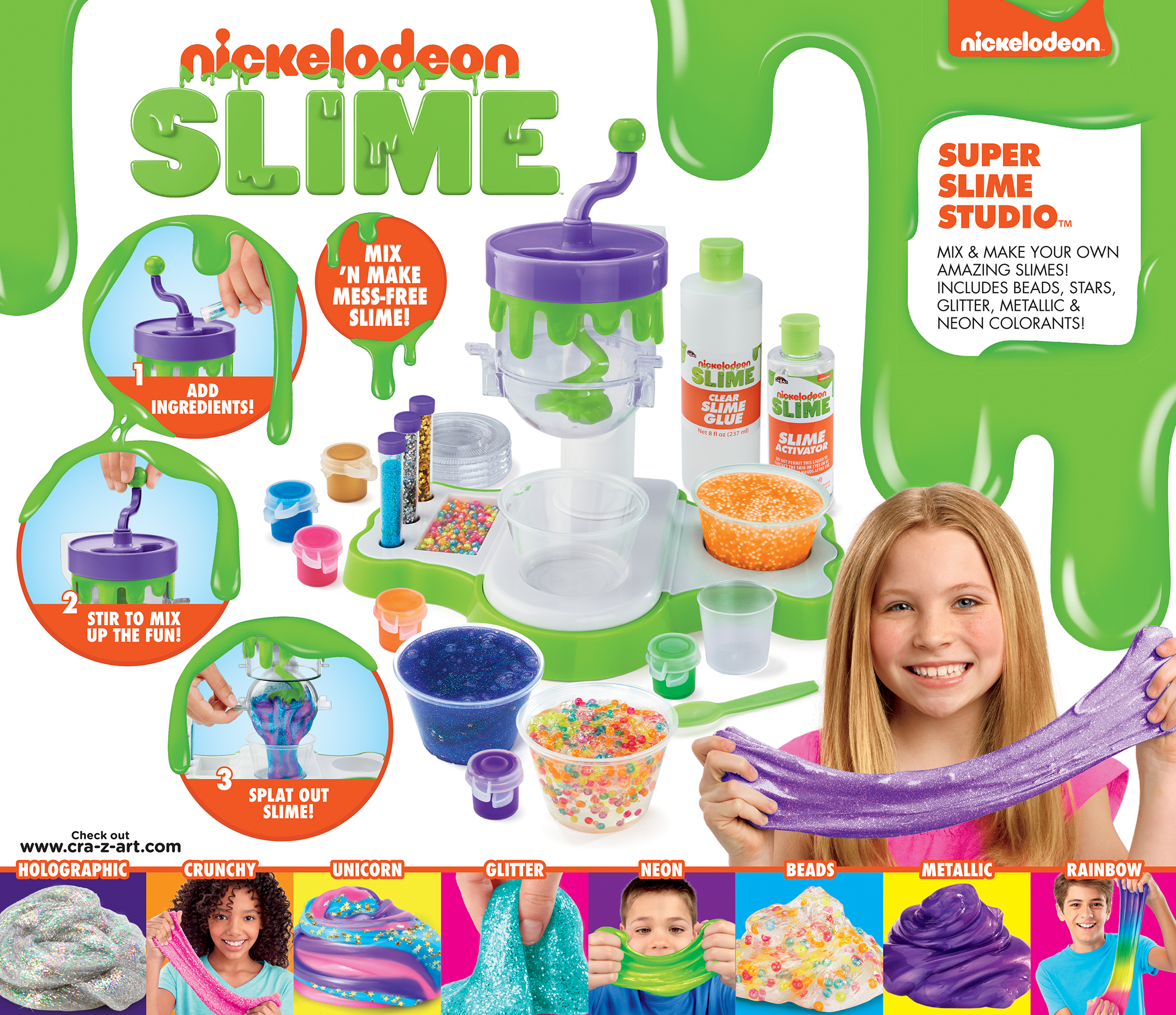 Ultimate Scented Glitter Slime Studio Fun Arts DIY Activities Ideal Kids Gift