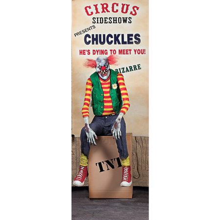 5-1/2' Chuckles Clown Animated Halloween Prop
