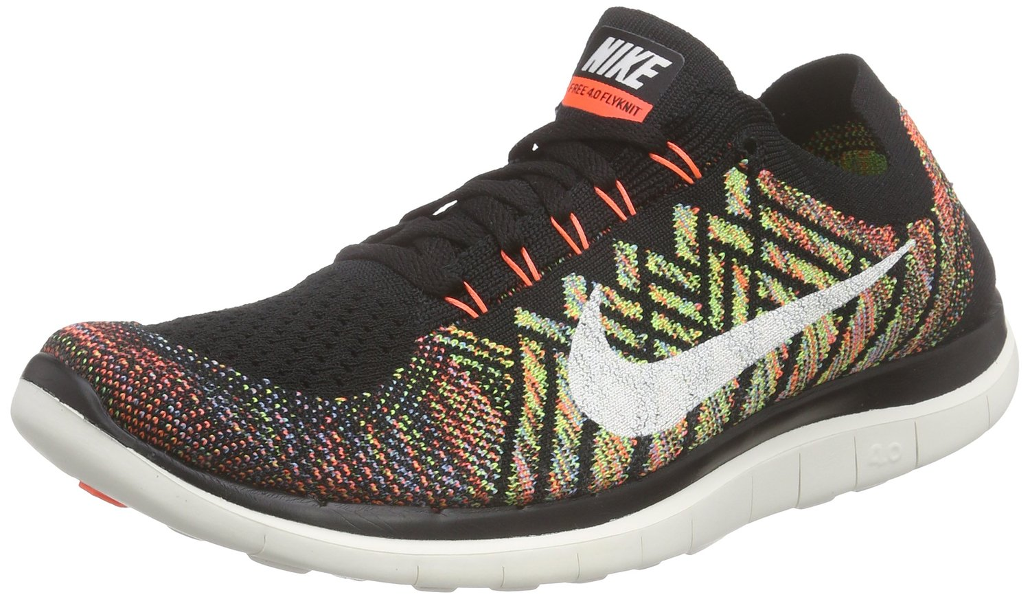 newest 4fe93 2acb4 ... new zealand nike nike free 4.0 flyknit men black sail hyper orange  university blue running shoes