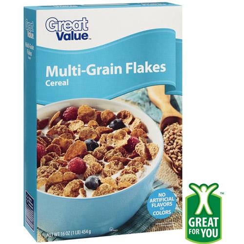 Great Value Multi-Grain Flakes Cereal, 16 oz