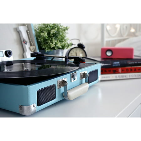 Canvas Print Record Sound Vinyl Music Record Player Vintage Stretched Canvas 10 x 14 ()