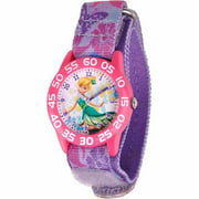 Tinker Bell Girls' Plastic Watch, Purple Strap