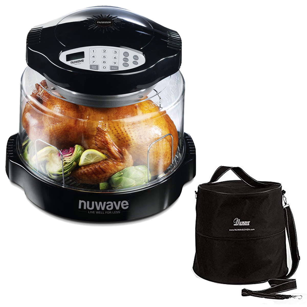 NuWave Oven Pro Plus with Black Digital Panel & Oven Carrying Case Customized