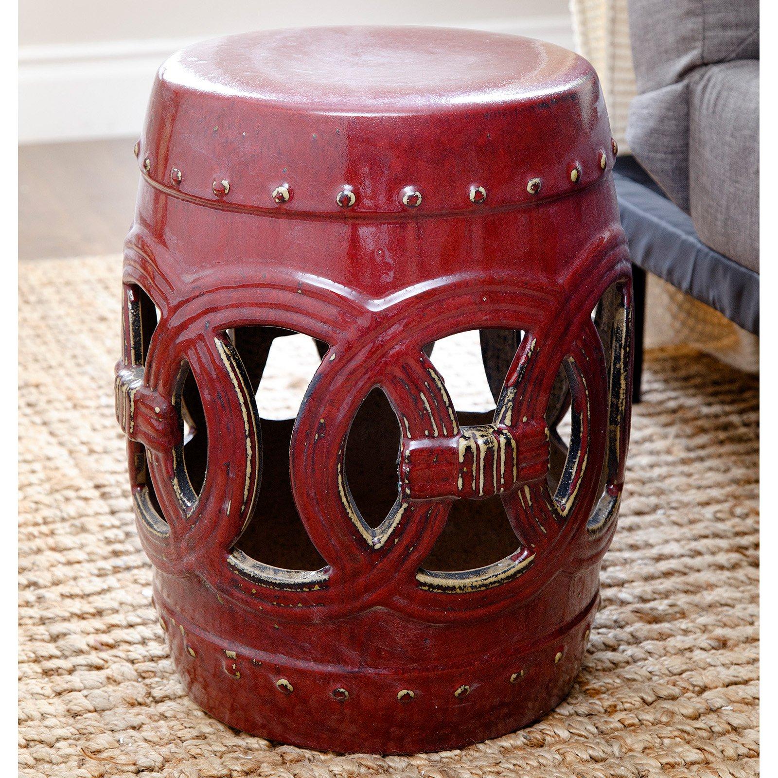 Abbyson Yasmine Ceramic Garden Stool