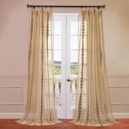 Rayon Curtain - Half Price Drapes Cleopatra Geometric Sheer Rod Pocket Single Curtain Panel