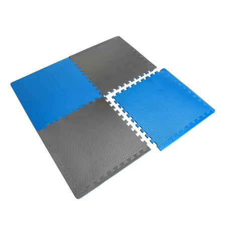 CAP High Density Reversible 4-Piece 13.7 Sq Ft Puzzle Exercise Mat,