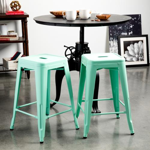 I Love Living Tabouret 24-inch Hint of Mint Counter Stools (Set of 2)
