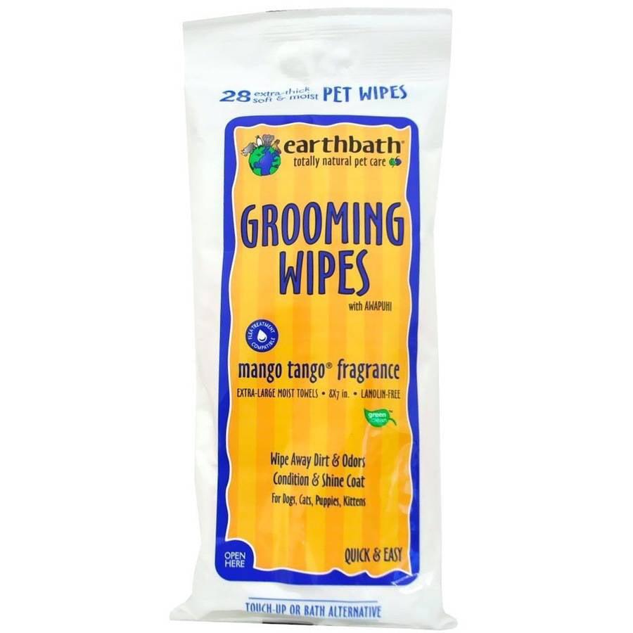 Earthbath Mango Grooming Wipes, 28 ct