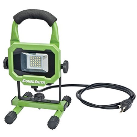 PowerSmith PWL1115BS 15W 1400 Lumen LED Work Light Equippped with Metal Stand and Lamp Housing with 5 ft power
