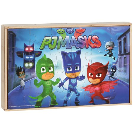PJMasks Wooden Puzzles 7 ct (Frog Puzzle Box)