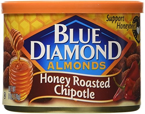 Blue Diamond Honey Roasted Chipotle Almonds 6 oz. Canister by BlueDiamond