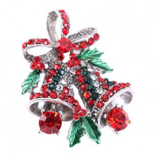 Fancyleo 2018 Fashion Xmas Tree Bell Deer Crystal Brooch Pin Christmas Party Gift Jewelry Swarovski Christmas Tree Brooch