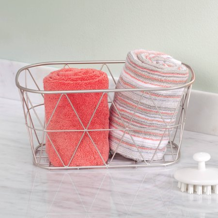Better Homes And Gardens Bathroom Wire Storage Basket Small Satin Delectable Better Homes And Gardens Bathrooms