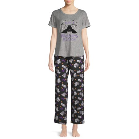 Bananas In Pyjamas Halloween (Women's and Women's Plus Bat Halloween Tee and Pant Pajama)