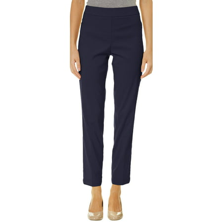 Nue Options Womens Tech Stretch Solid Pull On Pants Run Omni Tech Pant