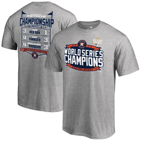 Mens Fanatics Branded Heather Gray Houston Astros 2017 World Series Champions Schedule Big   Tall T Shirt