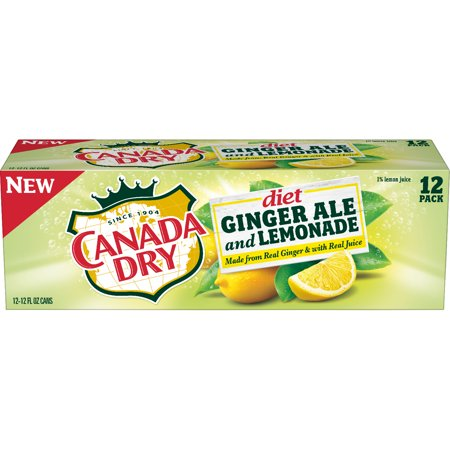 Ale Label - (2 Pack) Diet Canada Dry Ginger Ale and Lemonade, 12 Fl Oz Cans, 12 Ct