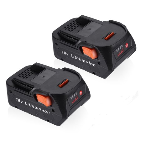 Powerextra 2-Pack 18V 4000mAh Replacement Battery For RIDGID R840087 R840083 18 Volt Ridgid Power Tools Batteries (18 Volt Battery Ridgid)