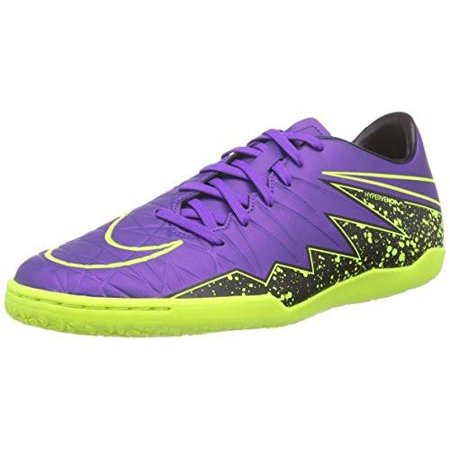 Nike Hypervenom Phelon II IC Indoor Soccer Shoe Hyper Grape, Black, Volt /  11.5