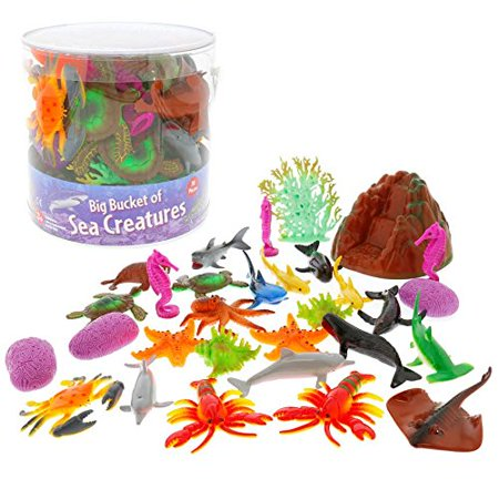 Sea Creature Masks (Ocean Sea Creature Action Figures - Big Bucket of Sea Creatures - Huge 30 Piece)